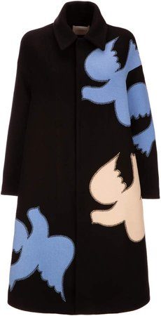 La DoubleJ Oversized Intarsia Wool-Blend Coat