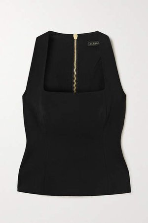Crepe Bustier Top - Black