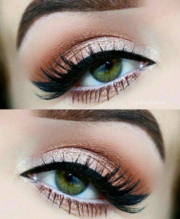 Green Eyes W/ Makeup