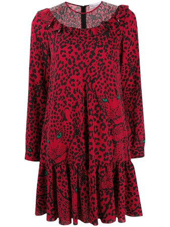 RedValentino leopard-print Shift Dress - Farfetch