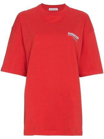 Balenciaga Logo Print T-shirt - Farfetch