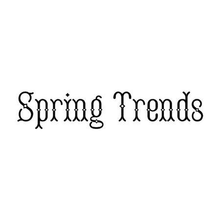 spring trends
