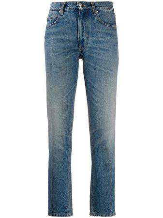 AMI Paris straight-leg Cropped Jeans - Farfetch