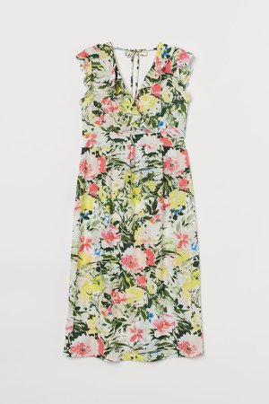 MAMA Short Wrap Dress - White