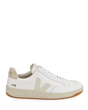 VEJA V 10 Mixed Media Low-Top Sneakers | Neiman Marcus