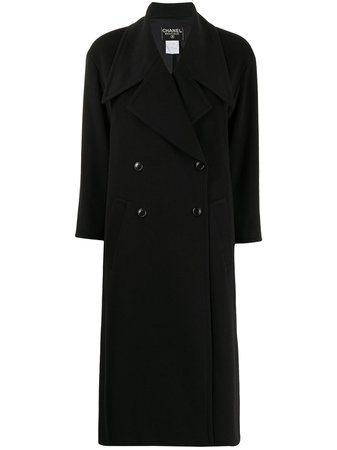 Chanel Pre-Owned 1998 double-breasted Midi Coat - Farfetch