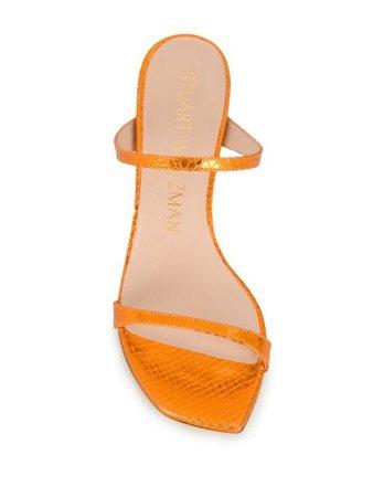 Stuart Weitzman Aleena 85mm slip-on Sandals - Farfetch