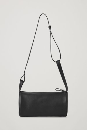 LEATHER BOWLING BAG - black - Bags - COS WW