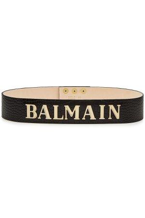 Embossed Leather Belt Gr. 34