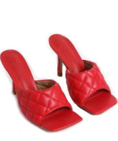 Red Cushion Heel