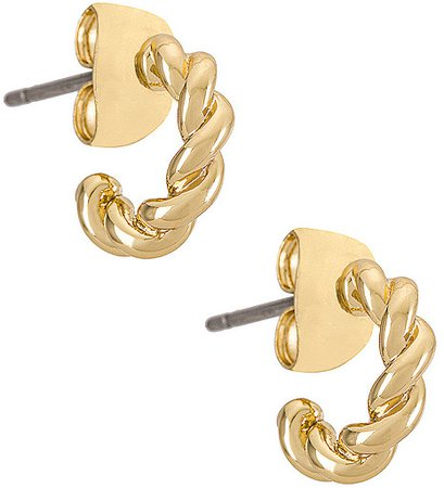 Quinn Gold Plated Earring