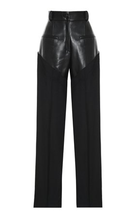 High-Rise Combined Straight-Leg Pants by Aleksandre Akhalkatsishvili | Moda Operandi
