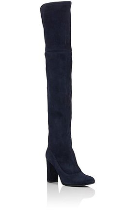 Barneys New York Suede Over-The-Knee Boots