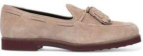 Tasseled Suede Loafers