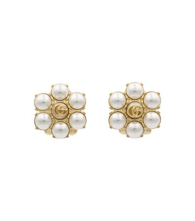 Gucci - GG faux pearl clip-on earrings | Mytheresa
