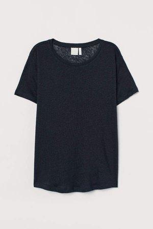 Linen T-shirt - Blue