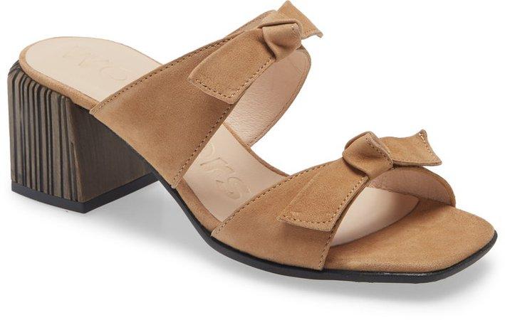 Block Heel Slide Sandal