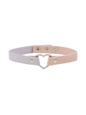 Blackheart Pink and Lavender Choker