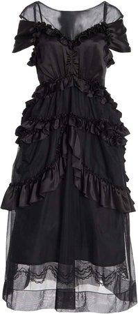 Simone Rocha Sheer Tulle Dress