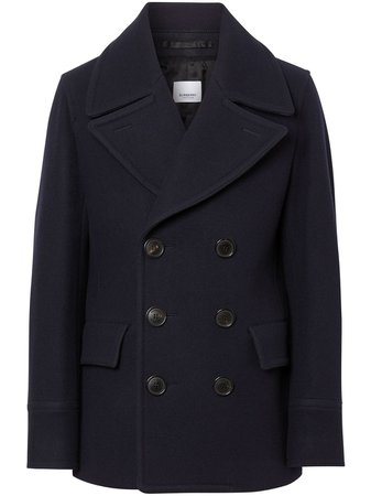 Burberry Wool Blend Pea Coat Aw20 | Farfetch.Com