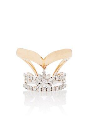 Yeprem Crown Pink Strada And Diamond Ring