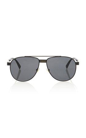 Versace Aviator-Style Metal Sunglasses