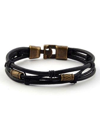 Metal Detail Layered Bracelet