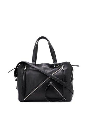 Black Karl Lagerfeld zip tote bag- Farfetch