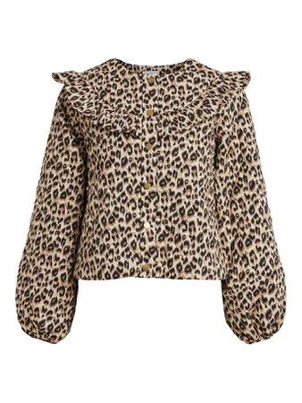 Quiltad leopardmönstrad jacka | VILA