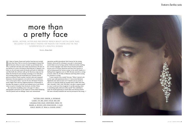 FEATURE: INTERVIEW WITH LAETITIA CASTA, EMIRATES WOMAN MAGAZINE: INTERVIEW/WRITING – Nina Catt Style