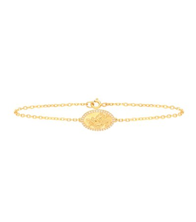 St Christopher Gold-Plated Sterling Silver Bracelet