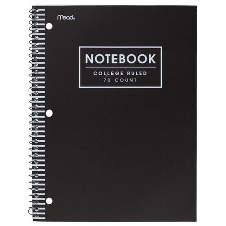 Mead 1 Subject College Ruled Solid Spiral Notebook : Target
