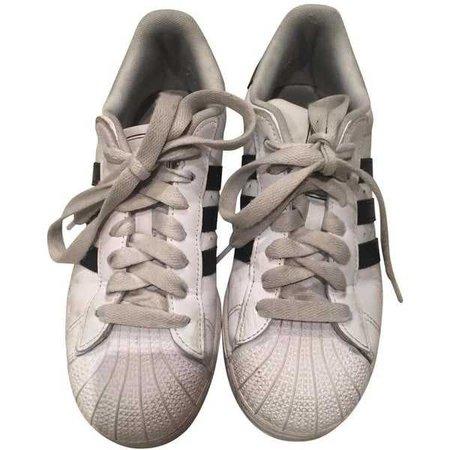 Vintage White Adidas Superstars