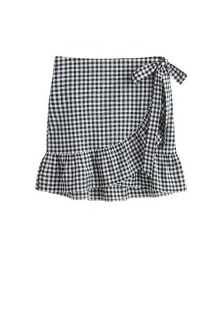 Violeta BY MANGO Gingham check miniskirt