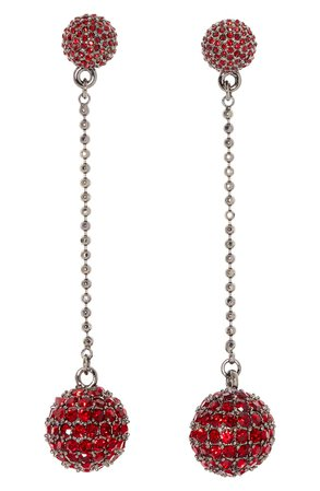 Vince Camuto Disco Ball Pavé Linear Drop Earrings | Nordstrom