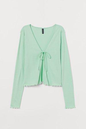 Cotton Jersey Cardigan - Green