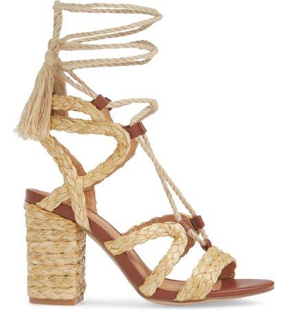 Renita Raffia Wraparound Sandal MIA