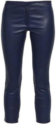 Bristol Cropped Leather Skinny Pants