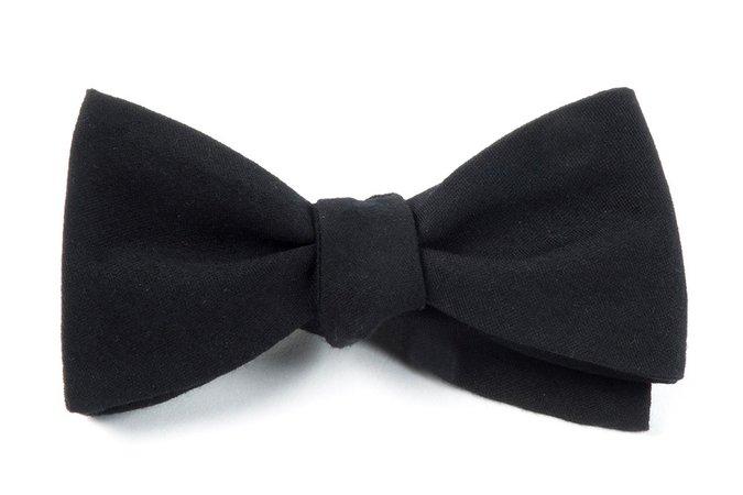 Black Solid Wool Bow Tie | Men's Bow Ties | The Tie Bar