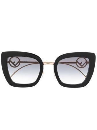 Fendi Eyewear Oversized cat-eye Sunglasses - Farfetch