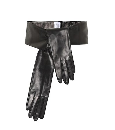 Leather gloves belt