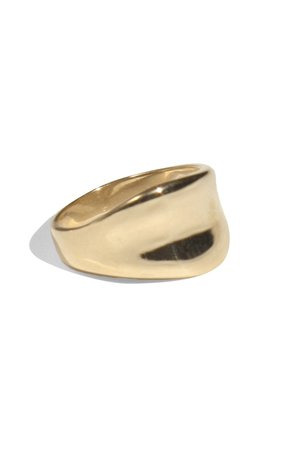 Crest Gold-Plated Ring by Young Frankk | Moda Operandi