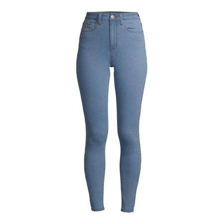 blue No Boundaries - No Boundaries Juniors' High Rise Skinny Jeans - Walmart.com - Walmart.com