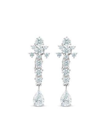 De Beers platinum Lea diamond earrings - FARFETCH