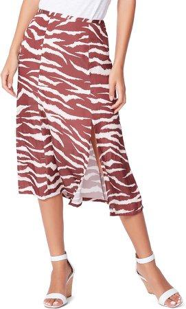 Larsa Animal Print Midi Skirt