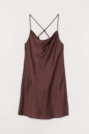 Satin Nightgown - Brown