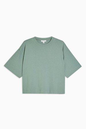 Mint Panel Boxy T-Shirt | Topshop