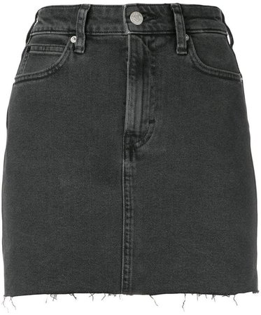 fitted denim skirt