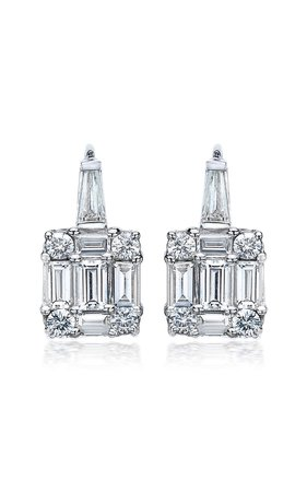 Clarity Diamond 18K White Gold Earrings by Mindi Mond | Moda Operandi