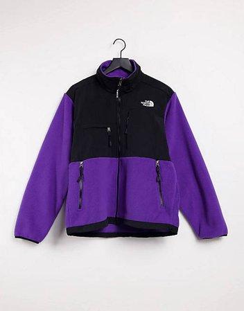 The North Face 95 Retro Denali fleece jacket in purple   ASOS